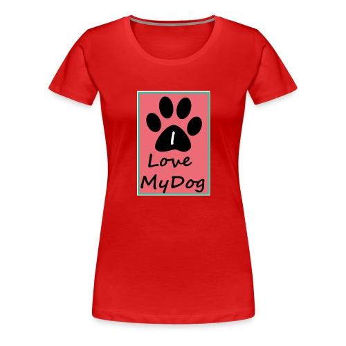 love dog 2 - Camiseta premium mujer