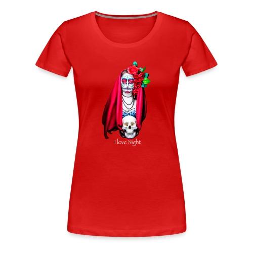 Catrina I love night - Camiseta premium mujer
