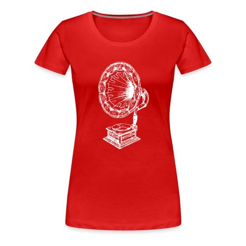 Musica grammofono - Maglietta Premium da donna