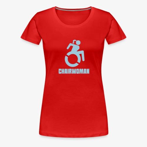 Rolstoel vrouw, chairwoman, dame in rolstoel, roll - Vrouwen Premium T-shirt