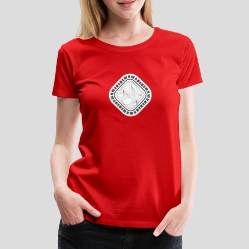 Eckige Klaviatur - Frauen Premium T-Shirt
