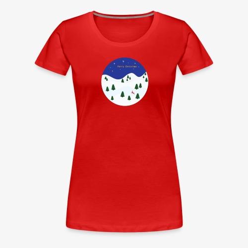 boule Noël bleue - T-shirt Premium Femme