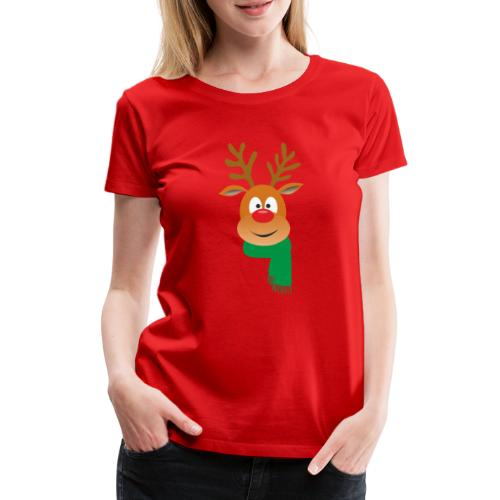 Reno bufanda verde - Camiseta premium mujer