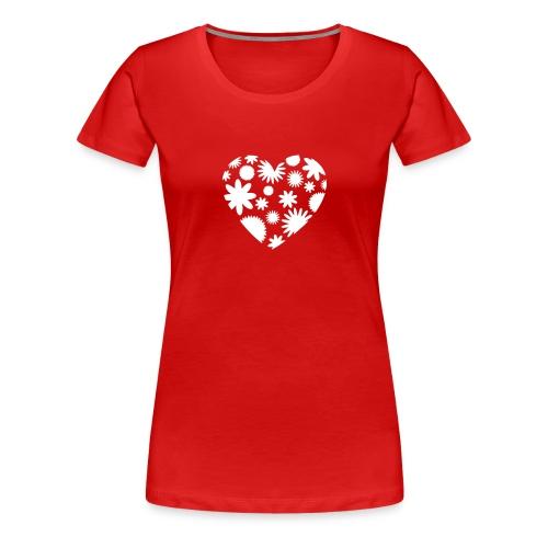 Blütenherz - Frauen Premium T-Shirt