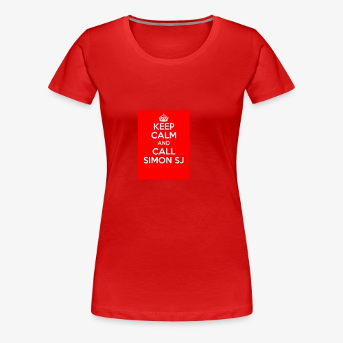 Keep Calm And Call Simon SJ - Premium-T-shirt dam