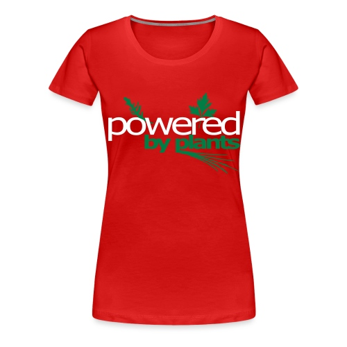POWERED BY PLANTS - Frauen Premium T-Shirt