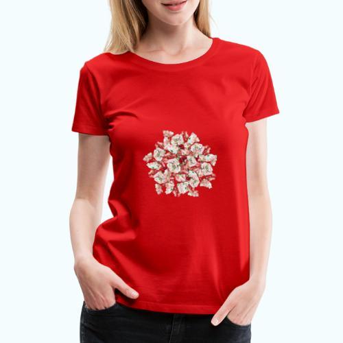 Hippie Aquarell Blumen - Women's Premium T-Shirt