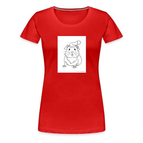 Hamster petite souris blanche guinea - T-shirt Premium Femme