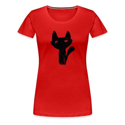 Katt Noir - Premium T-skjorte for kvinner