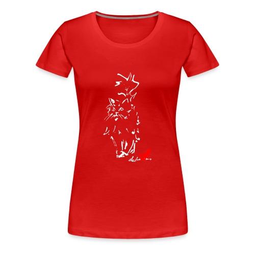 GATTO A PELO LUNGO - Maglietta Premium da donna