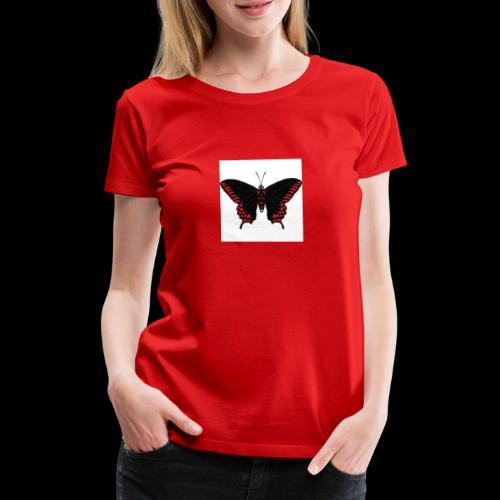 Black & Red Butterfly - Women's Premium T-Shirt