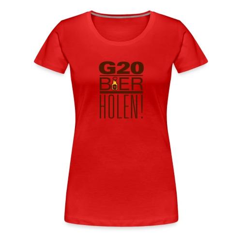diggaladen g20 bier holen - Frauen Premium T-Shirt