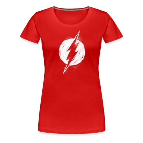 Justice League Flash Logo white - Frauen Premium T-Shirt