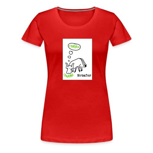 metafor jpg - Premium T-skjorte for kvinner