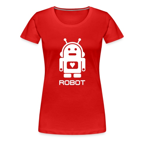 ROBOT - Dame premium T-shirt