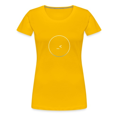 White and white-blue logo - Women's Premium T-Shirt