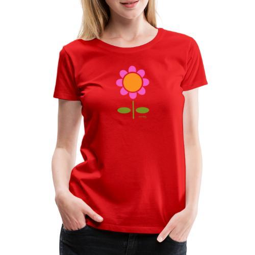 Retro flower - Naisten premium t-paita