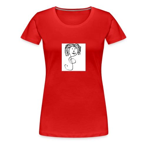 faccina violino - Maglietta Premium da donna