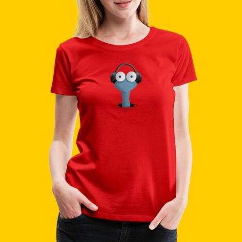 Musicworm - Premium-T-shirt dam