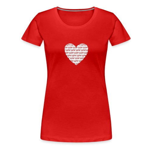 LUV Inverted love - Frauen Premium T-Shirt