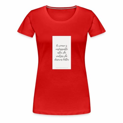 To boost self esteem in women - Women's Premium T-Shirt