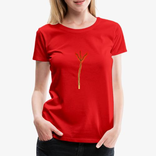 Runenmotiv Algiz - Frauen Premium T-Shirt
