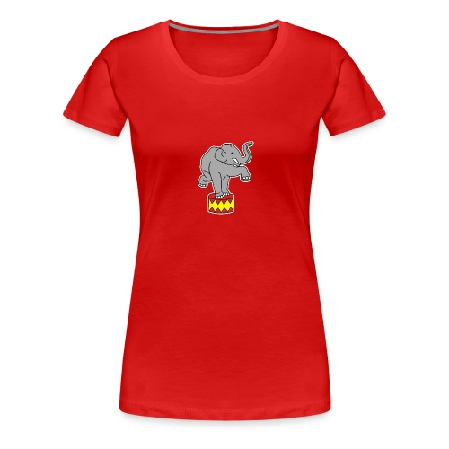 Zoo Zirkus Elefanten Circus Elephants Retro Comic - Frauen Premium T-Shirt