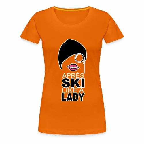 LIKE A lady png - Frauen Premium T-Shirt