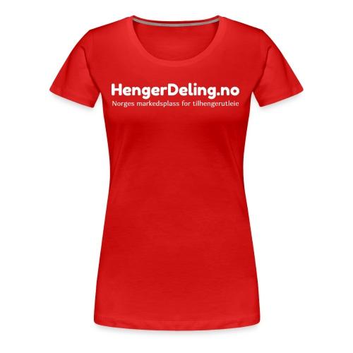 Norges markedsplass for tilhengerutleie - hvit - Premium T-skjorte for kvinner