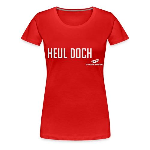 steife brise shirt mit logo s/w - Frauen Premium T-Shirt