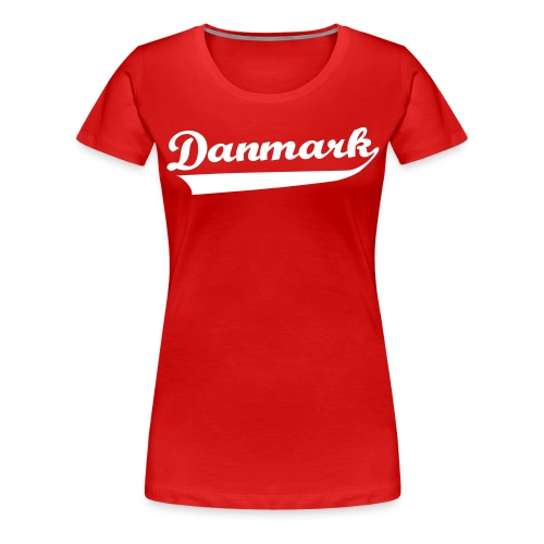 Danmark Swish - Dame premium T-shirt