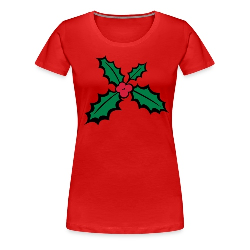 houx de noel - T-shirt Premium Femme