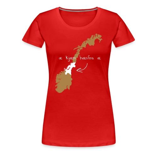 herifra trykk - Premium T-skjorte for kvinner
