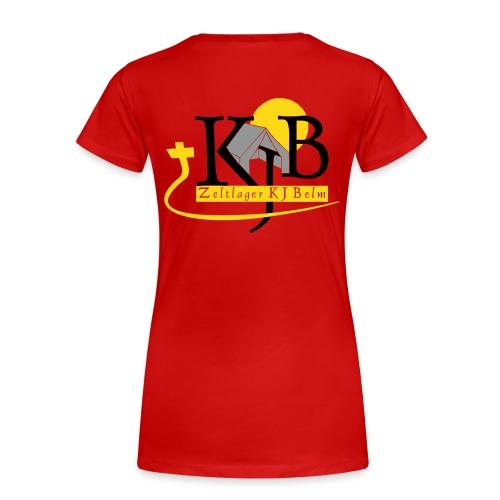 kjb logo zeltlager white - Frauen Premium T-Shirt