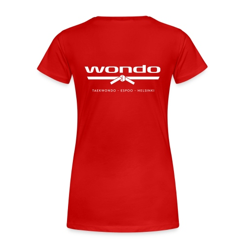 Wondo valkoinen logo - Naisten premium t-paita