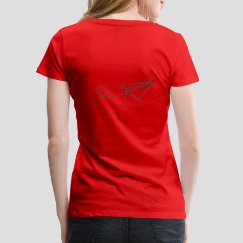 Papierflieger - Liebe - Frauen Premium T-Shirt