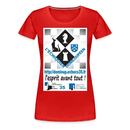 devant lesprit avant tout - T-shirt Premium Femme