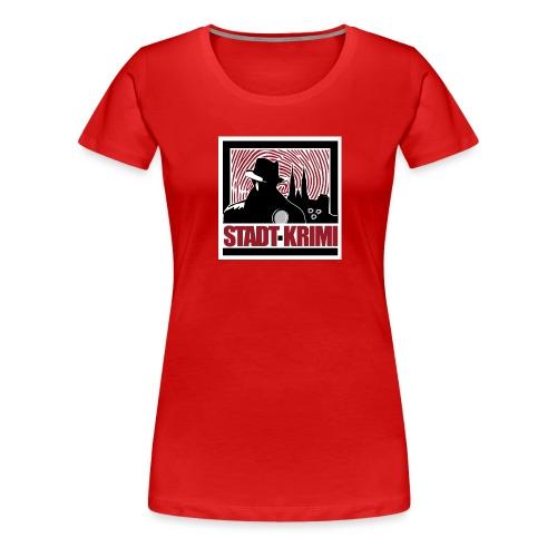 Stadt Krimi Logo - Frauen Premium T-Shirt