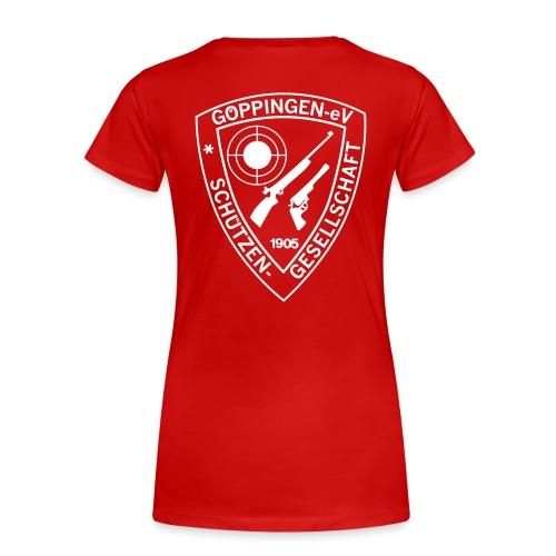 sg gp aufdruck pfad 50 - Frauen Premium T-Shirt