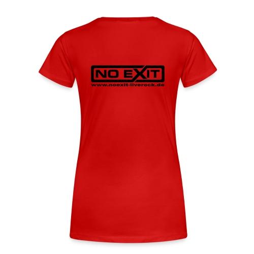 NO EXIT Logo - Frauen Premium T-Shirt