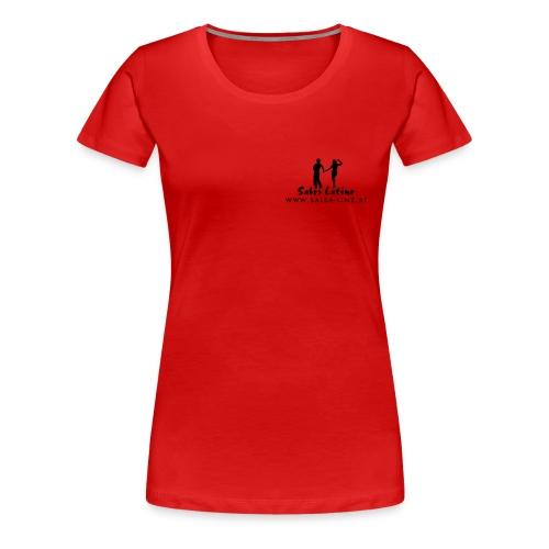 sabor latino tshirt vorne kurven10 - Frauen Premium T-Shirt