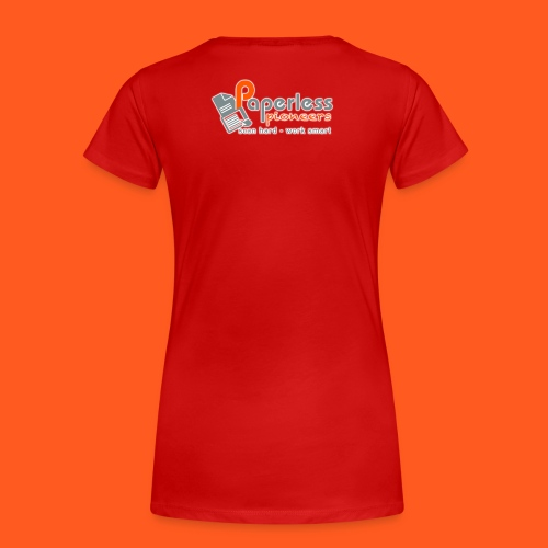 LOGO_Paperless_Pioneers_L - Frauen Premium T-Shirt