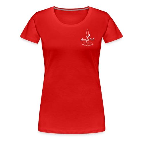logo_surfclub_weiss_RZ - Frauen Premium T-Shirt