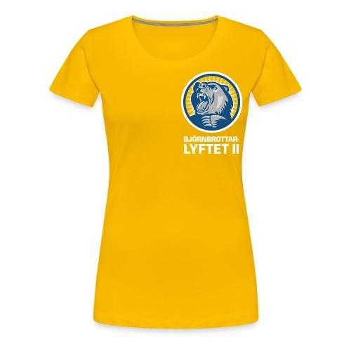 bbl brost vit png - Premium-T-shirt dam