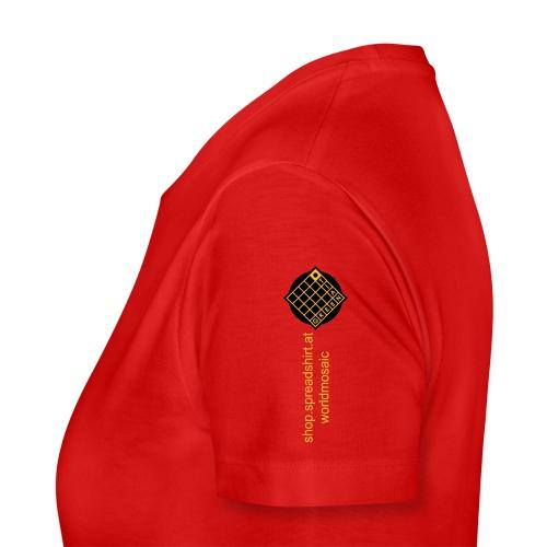 TIAN GREEN Welt Mosaik Shirt - Logo 2020 - Frauen Premium T-Shirt