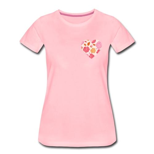 Herz Rosen - Frauen Premium T-Shirt