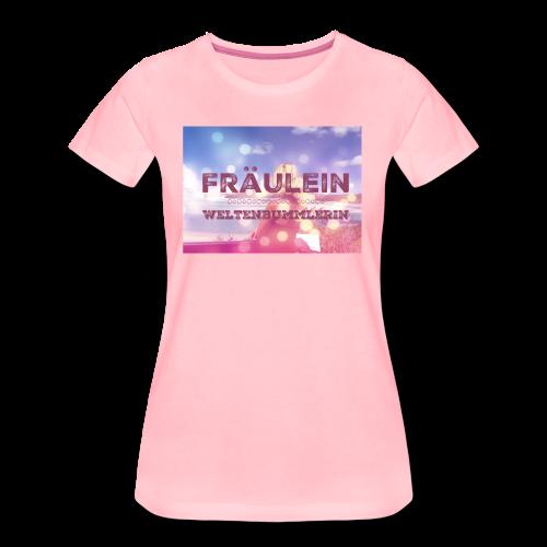 Fräulein Weltenbummlerin - Frauen Premium T-Shirt