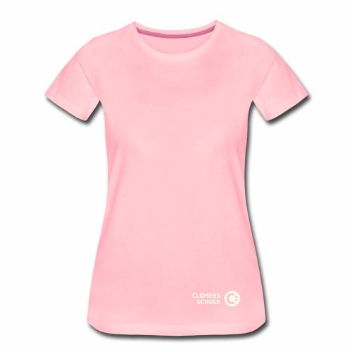 Frauen Premium T-Shirt - Schule,Clemens Schule,weiß,CLEMENS,Logo