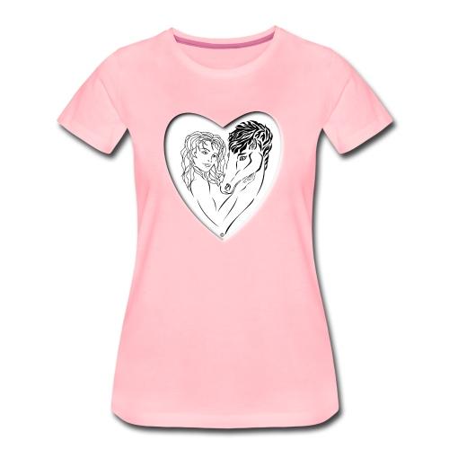 cavalière cheval passion ❤❤ FS - T-shirt Premium Femme