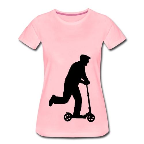 Alter Mann in Bewegung - Frauen Premium T-Shirt